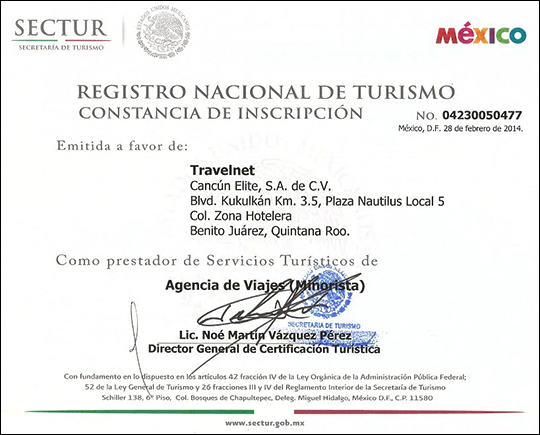 Sectur certification